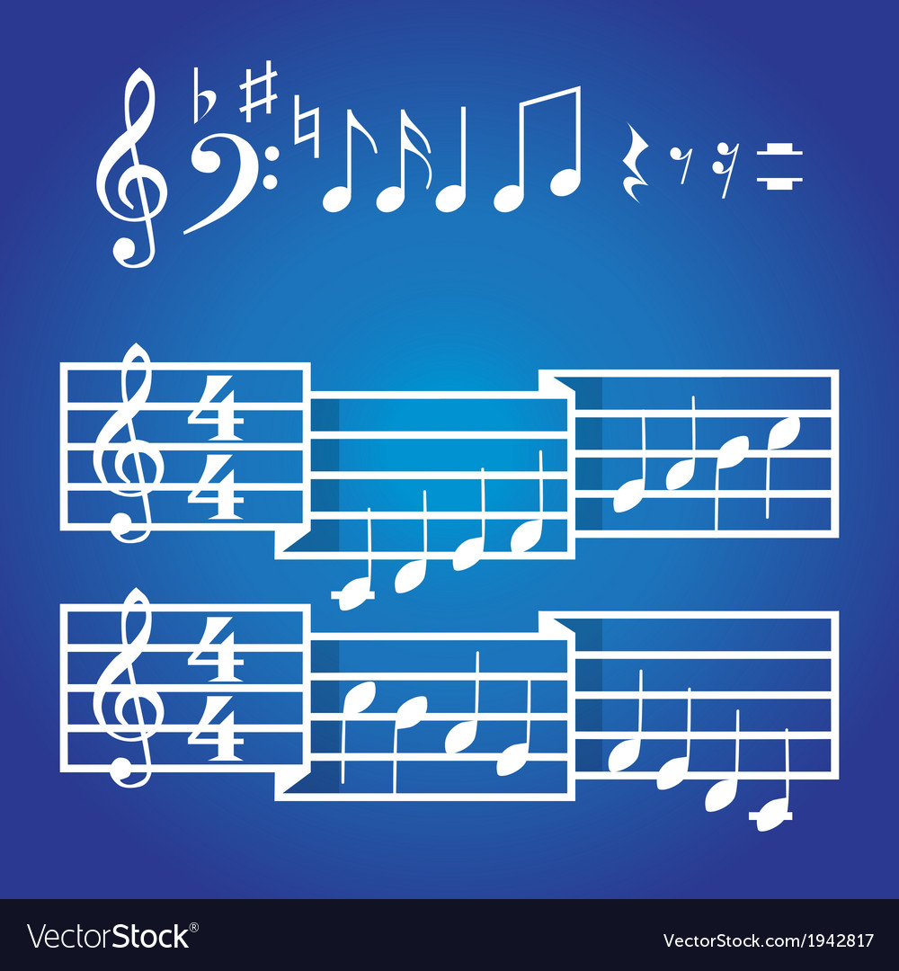 Musical scale and notes vector | Price: 1 Credit (USD $1)
