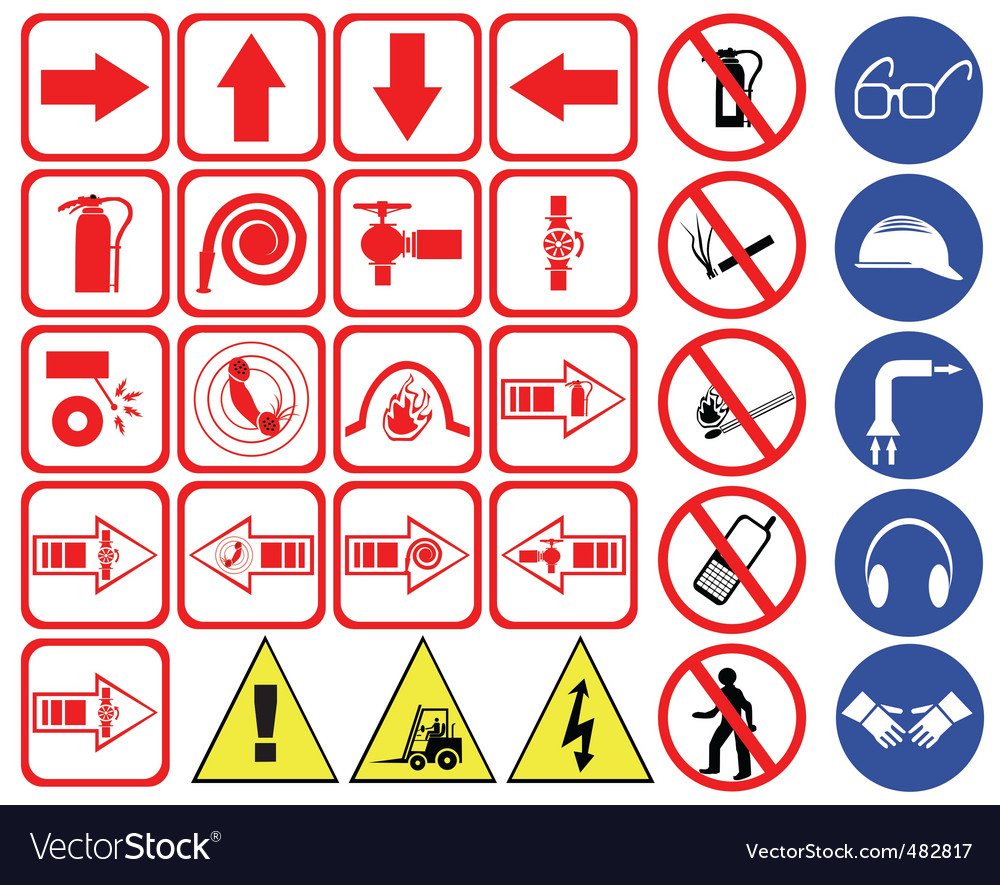 Safety hazard signs vector | Price: 1 Credit (USD $1)