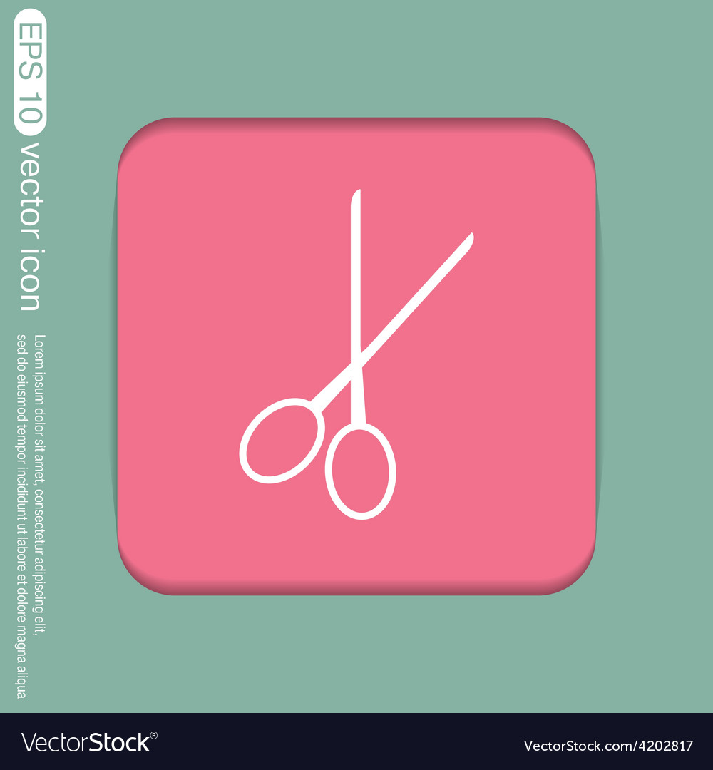 Scissors barbershop symbol of hair and beauty vector | Price: 1 Credit (USD $1)