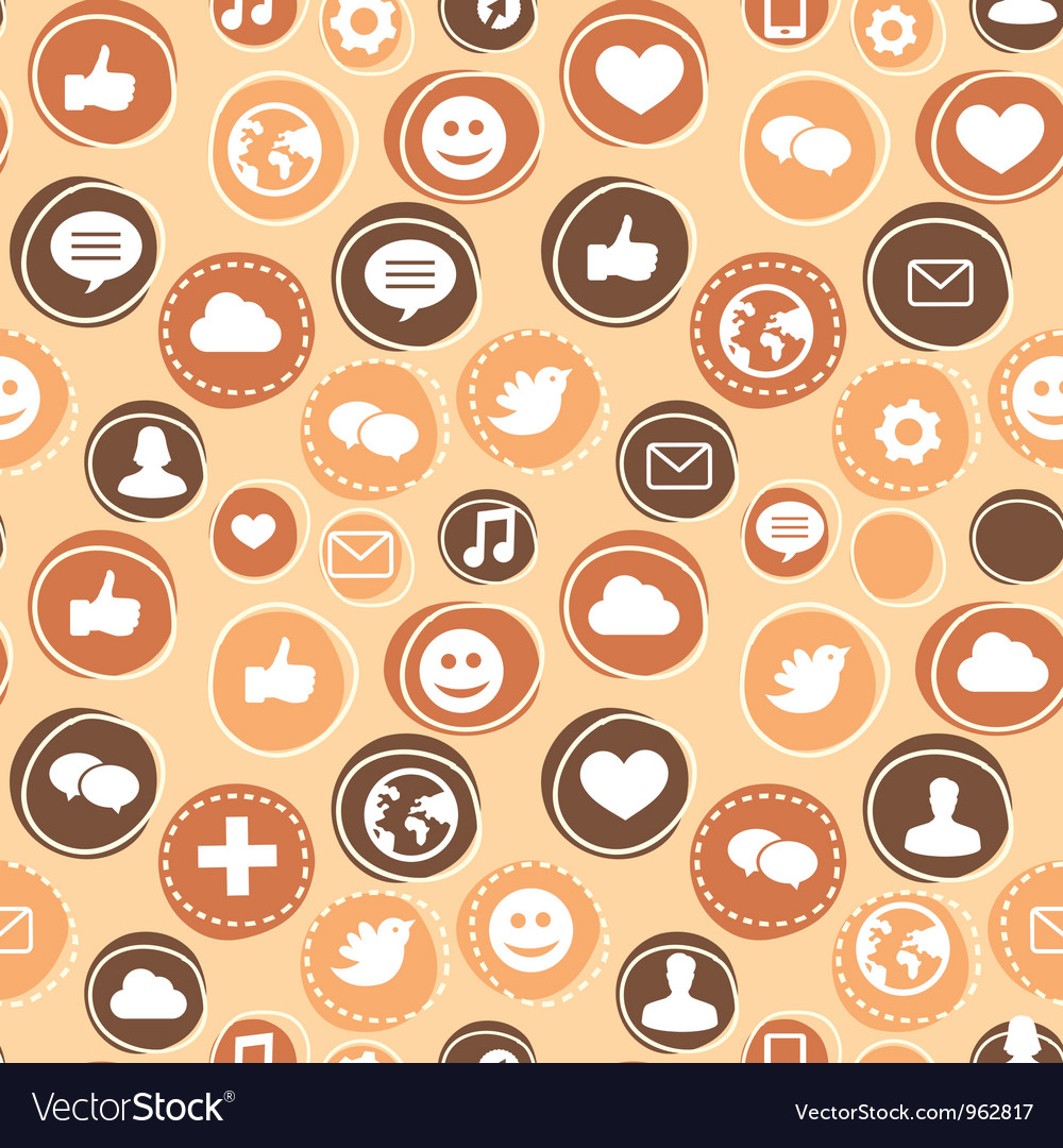 Seamless pattern with social media icons vector | Price: 1 Credit (USD $1)