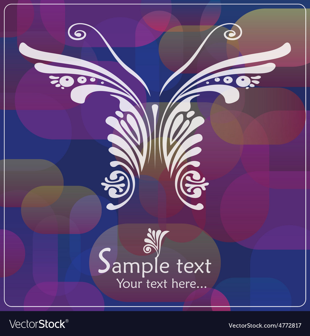 Vintage card with butterfly vector | Price: 1 Credit (USD $1)