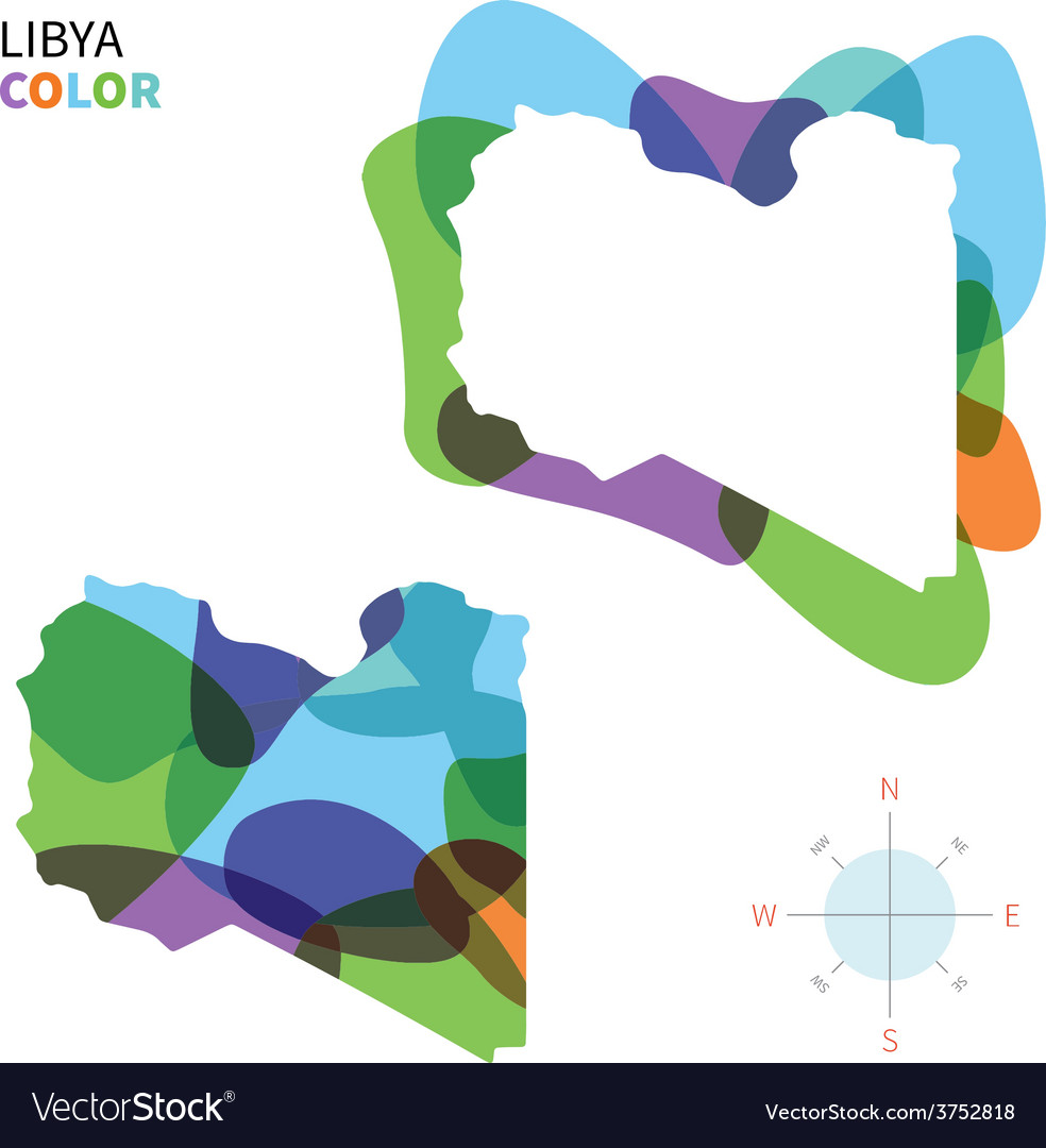 Abstract color map of libya vector | Price: 1 Credit (USD $1)