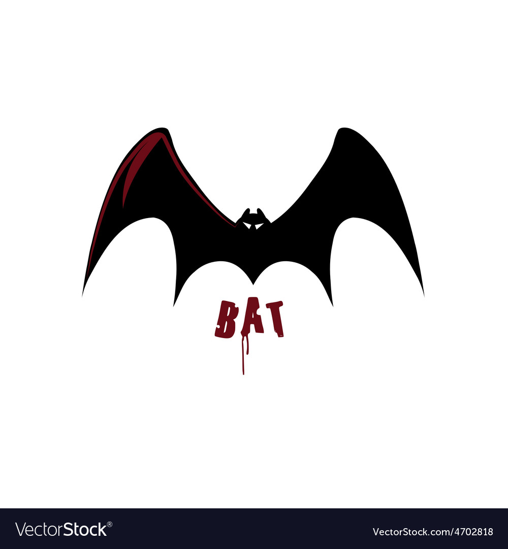 Bat design template vector | Price: 1 Credit (USD $1)