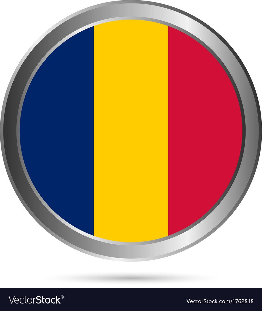 Chad flag button vector | Price: 1 Credit (USD $1)