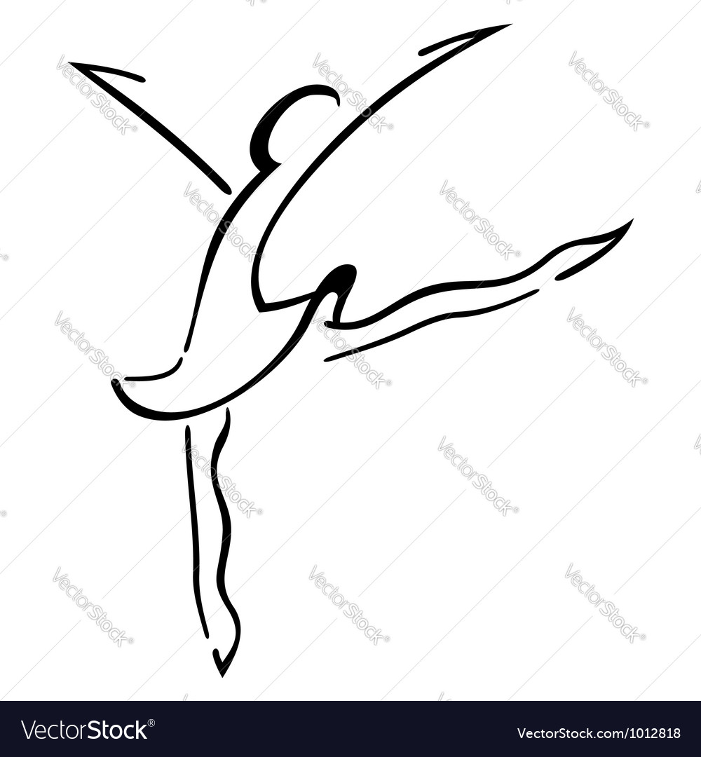 Dance symbol vector | Price: 1 Credit (USD $1)