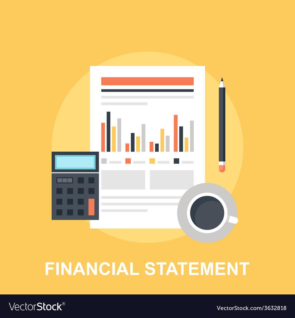 Financial statement vector | Price: 1 Credit (USD $1)
