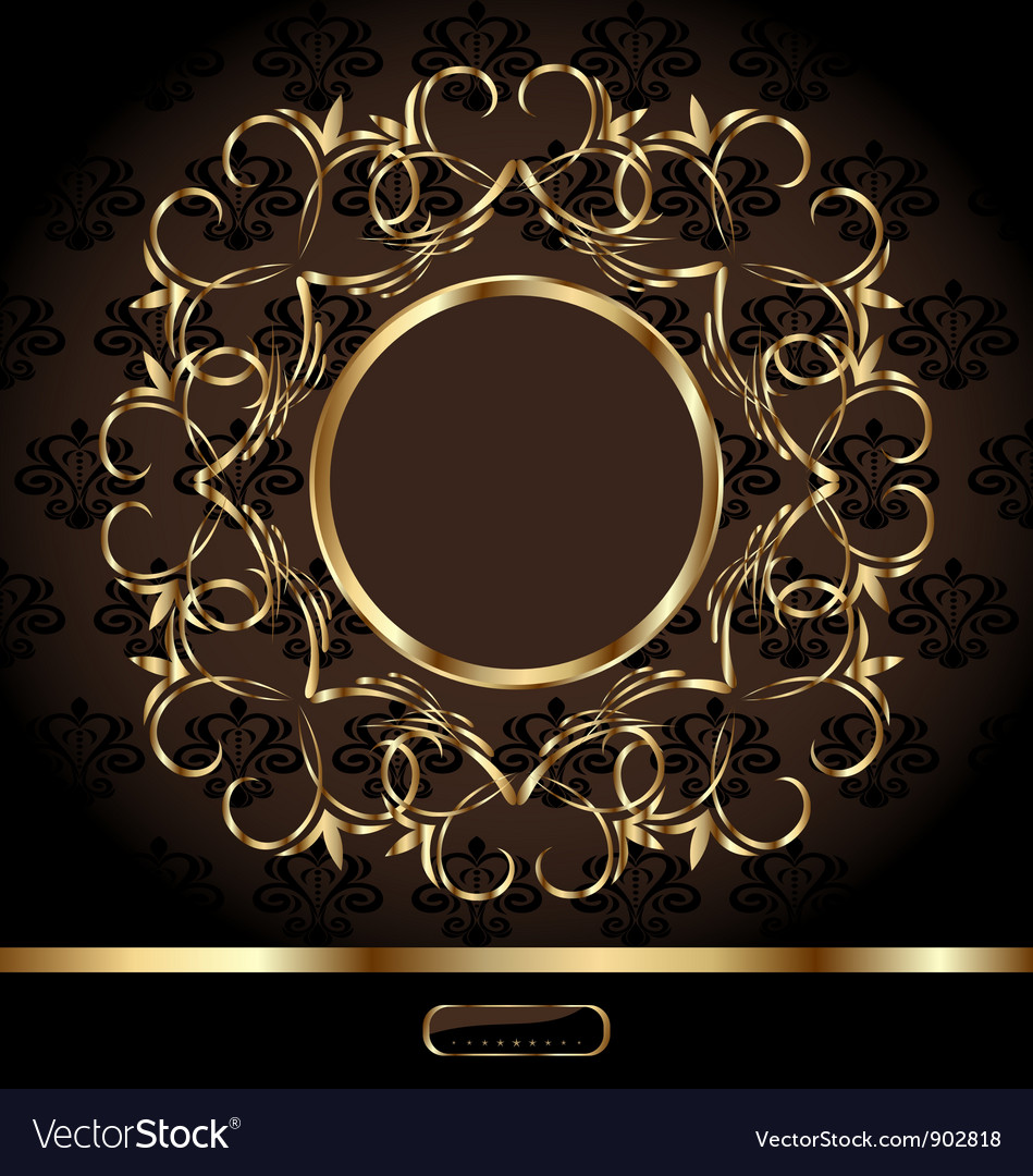 Golden ornate frame vector | Price: 1 Credit (USD $1)