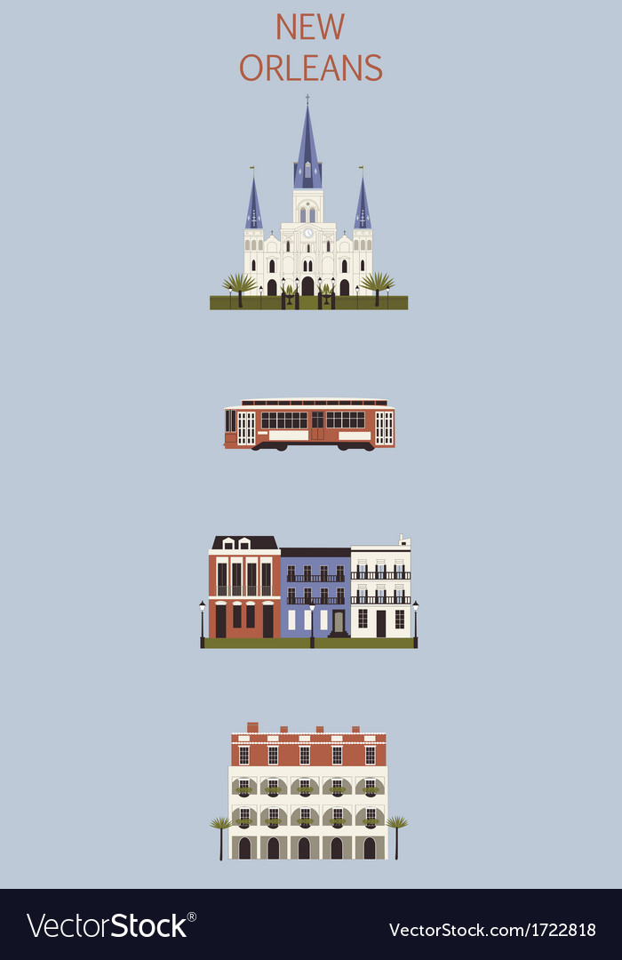 New orleans vector | Price: 1 Credit (USD $1)