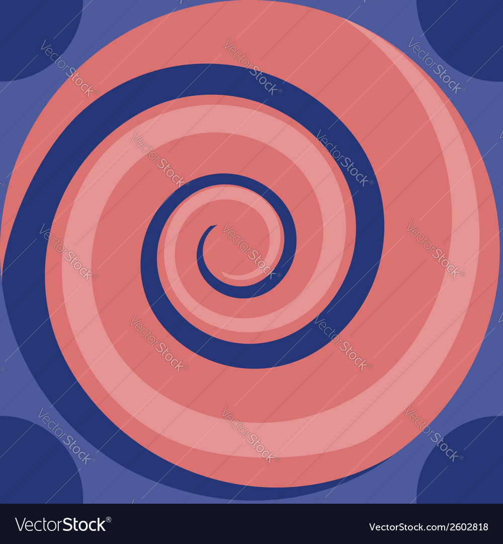 Pink spiral seamless vector