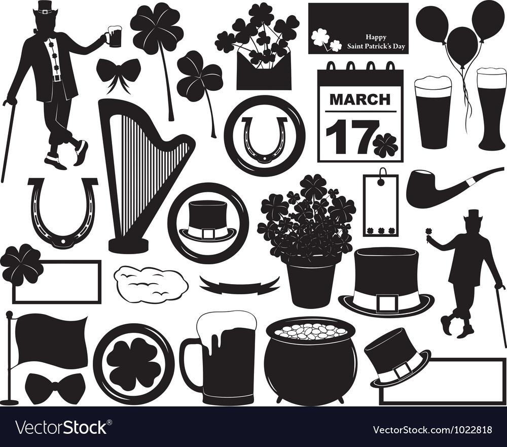 Saint patrick s day elements vector | Price: 1 Credit (USD $1)