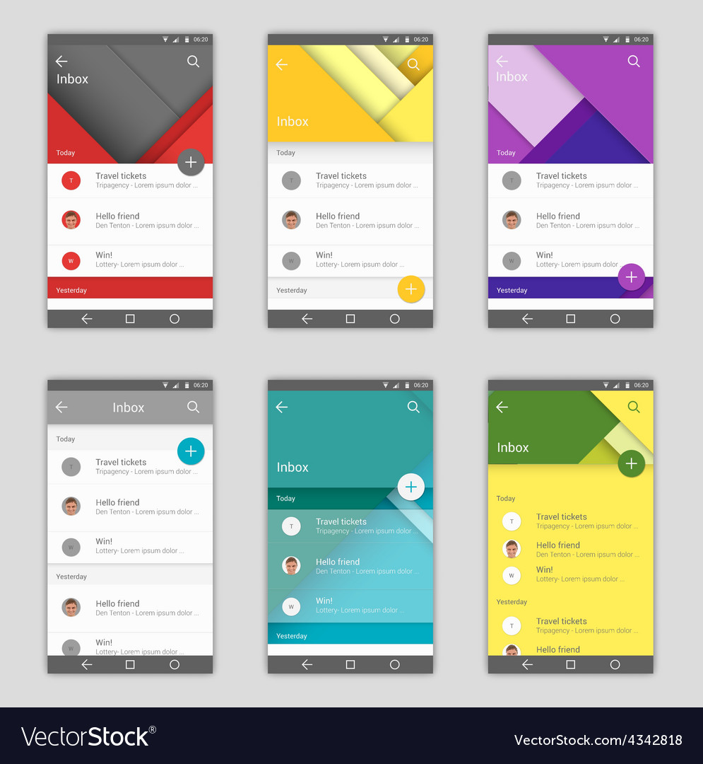 Set of user interfaces vector | Price: 1 Credit (USD $1)