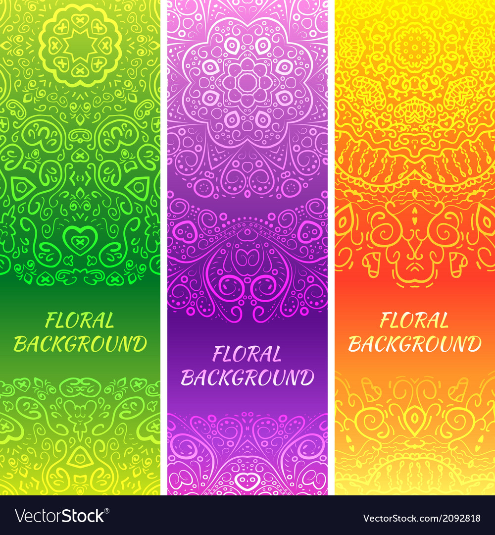 Tribal ethnic vintage banners vector | Price: 1 Credit (USD $1)
