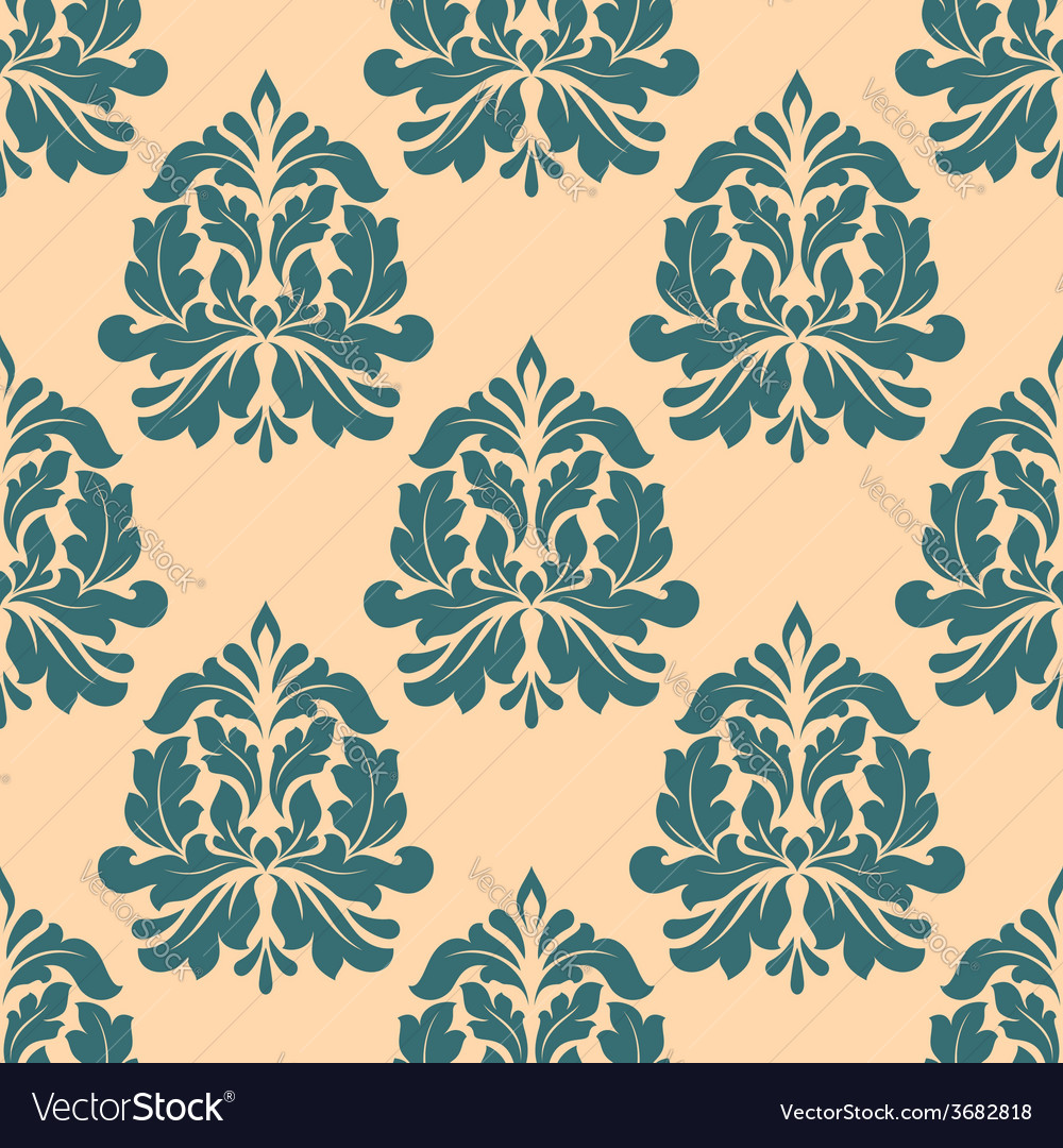 Vintage seamless pattern with abstract iris vector | Price: 1 Credit (USD $1)