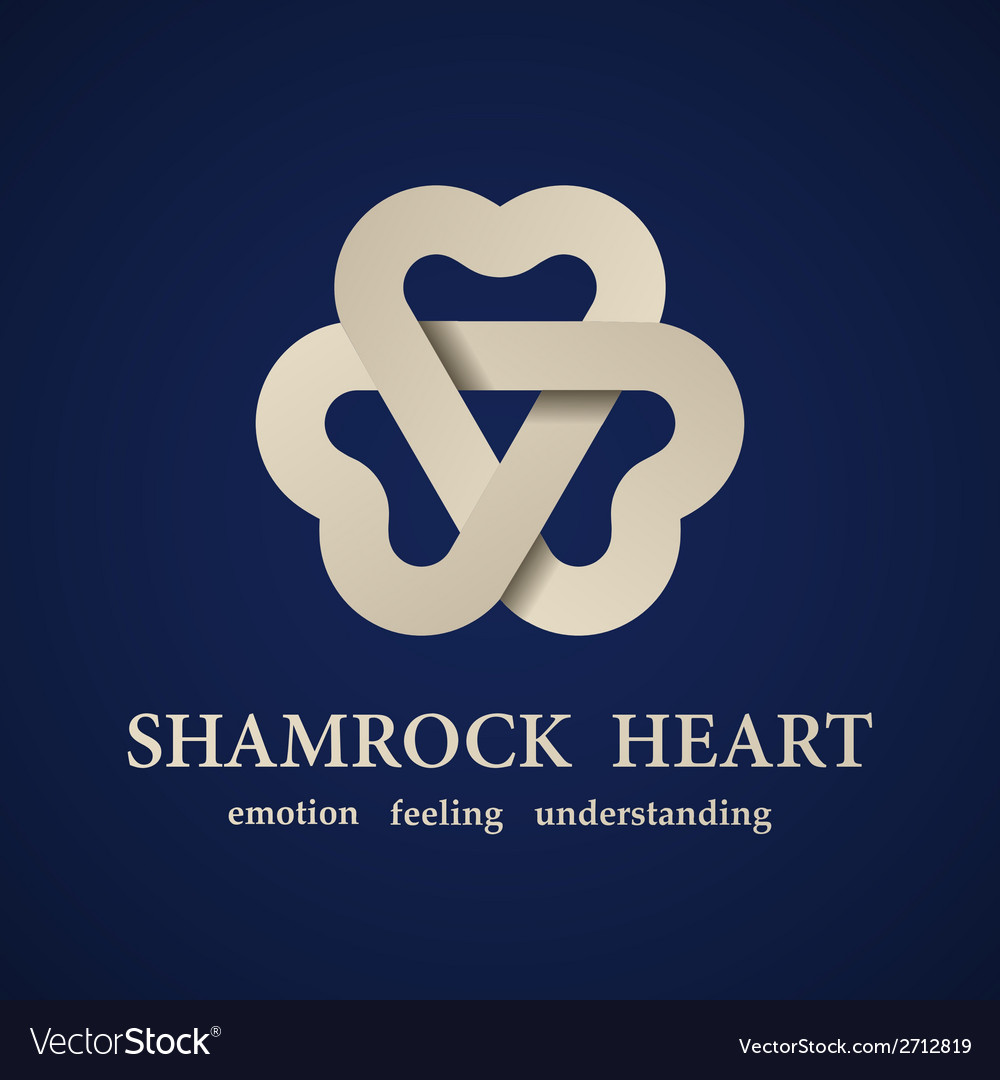 Abstract shamrock heart symbol vector | Price: 1 Credit (USD $1)