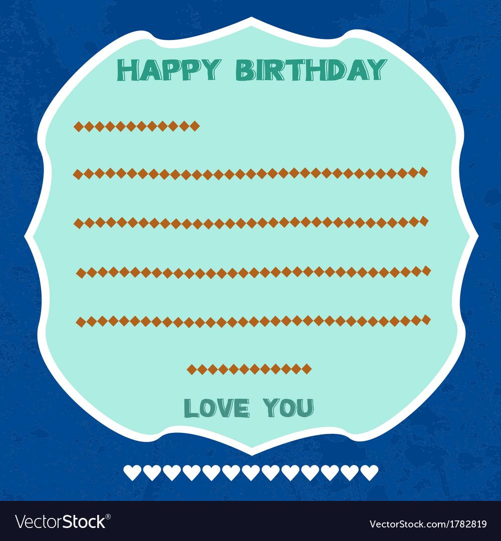 Birthday card5 vector | Price: 1 Credit (USD $1)