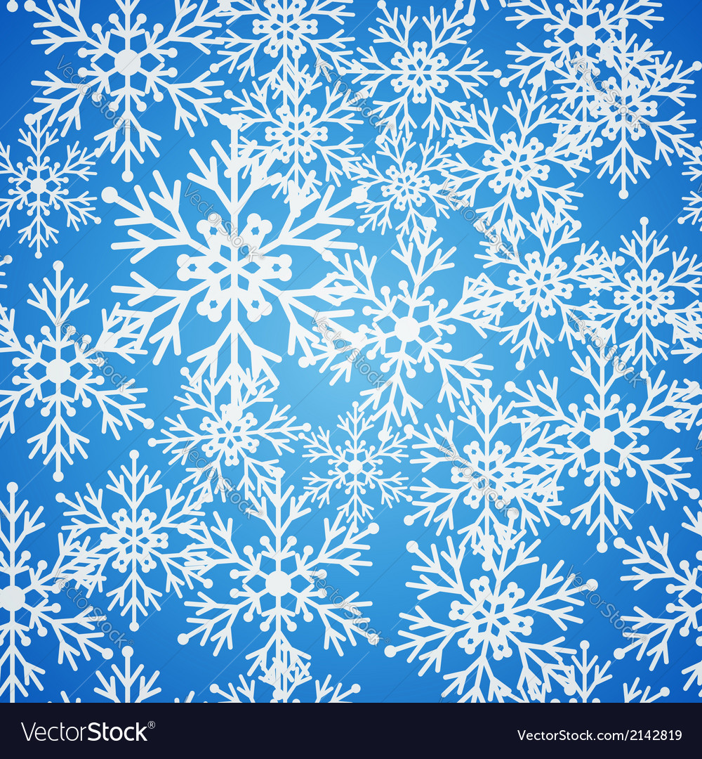 Christmas seamless blue pattern background with vector | Price: 1 Credit (USD $1)