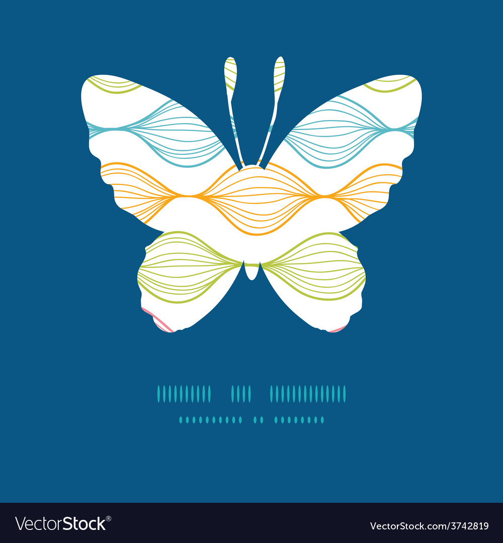 Colorful horizontal ogee butterfly vector | Price: 1 Credit (USD $1)