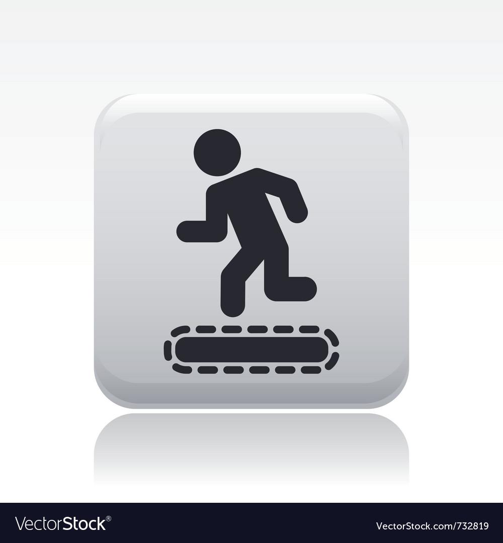 Exercise machine icon vector | Price: 1 Credit (USD $1)