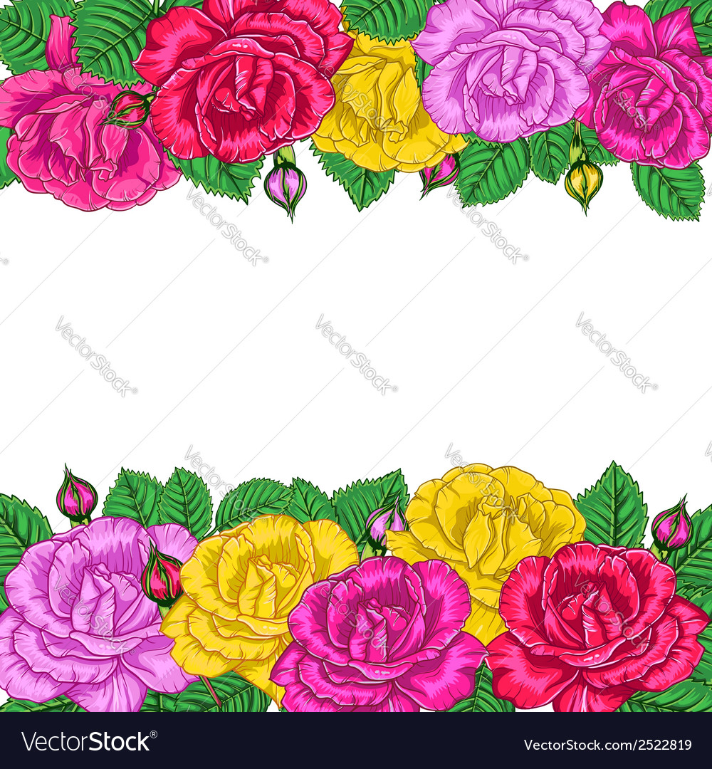 Floral background with roses vector | Price: 1 Credit (USD $1)