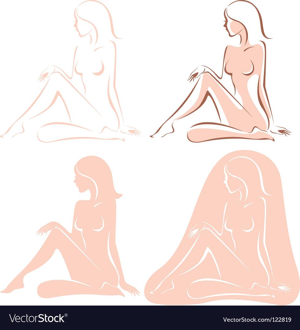 Nude woman vector   Price: 1 Credit (USD $1)