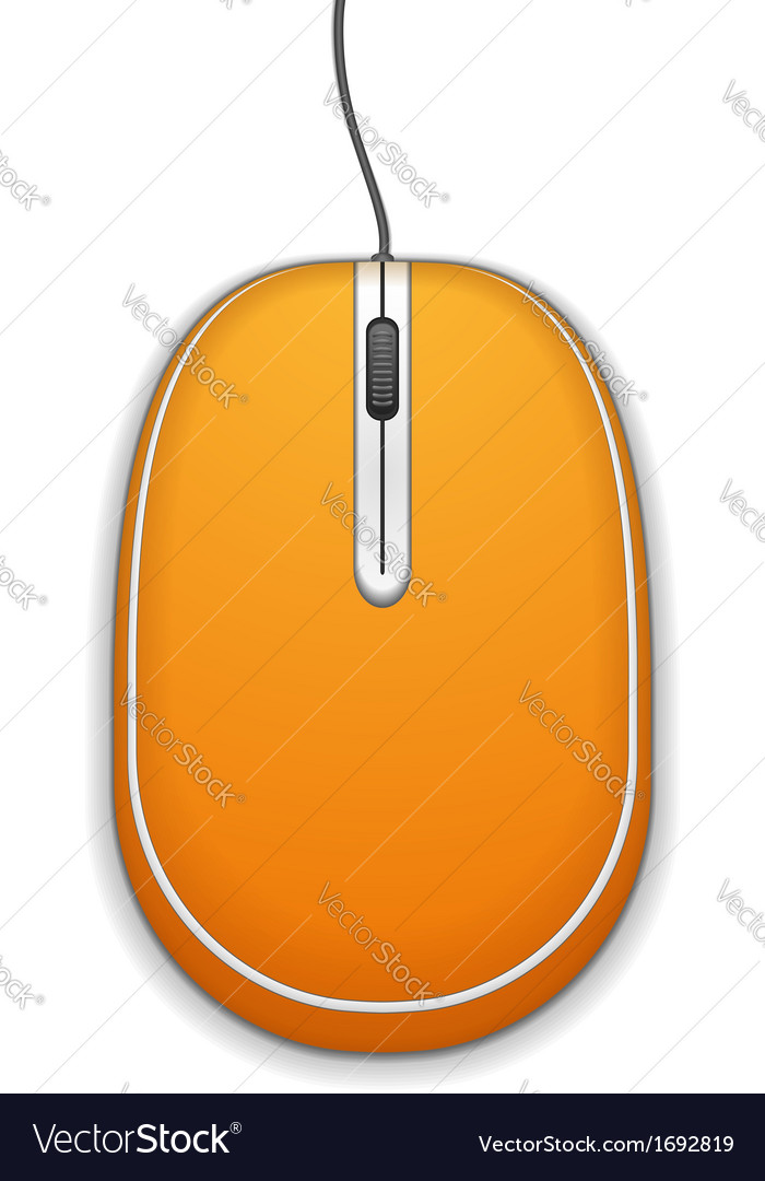 Orange computer mouse vector | Price: 1 Credit (USD $1)