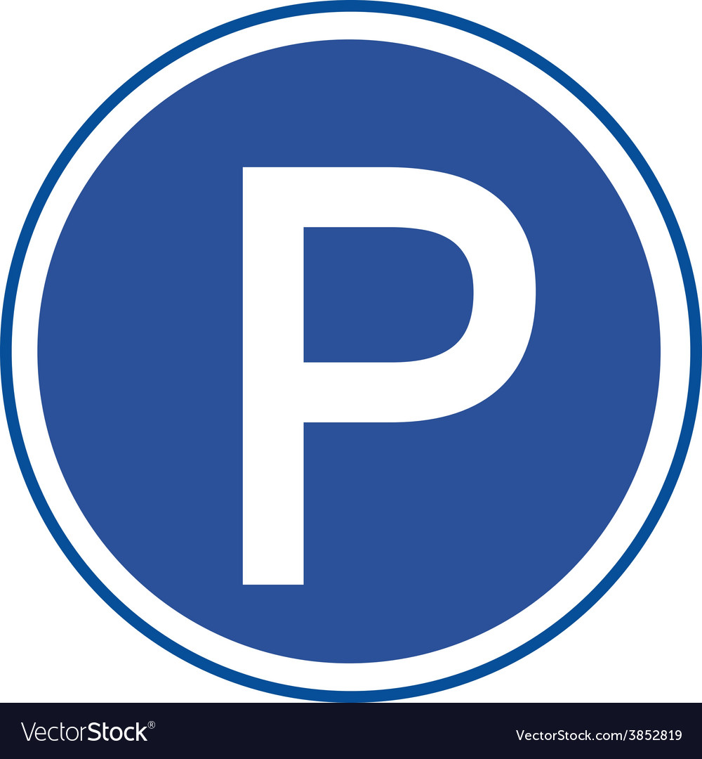 Parking sign on white background vector   Price: 1 Credit (USD $1)