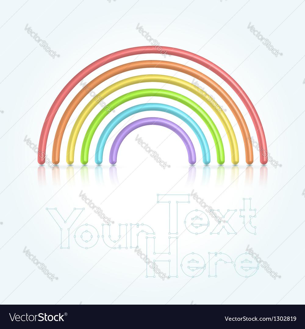 Rainbow symbol vector | Price:  Credit (USD $)