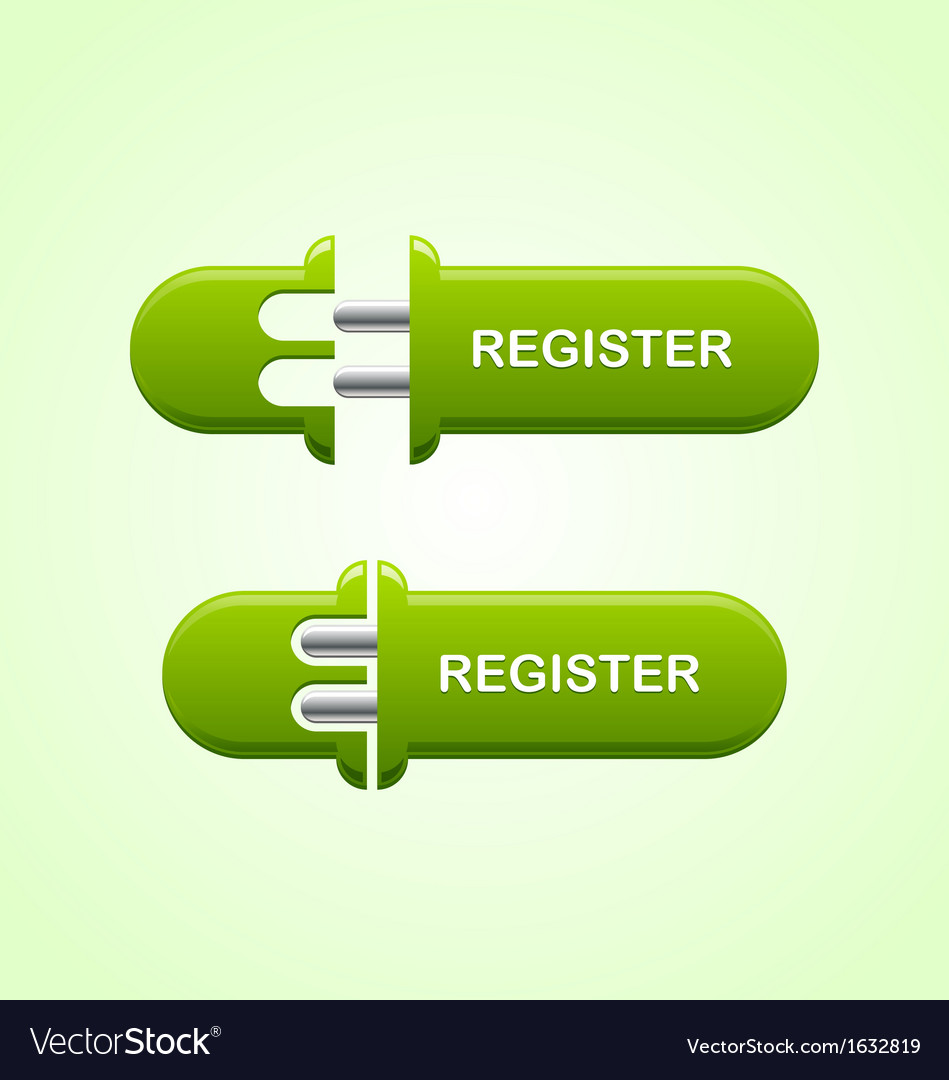 Register button vector | Price: 1 Credit (USD $1)