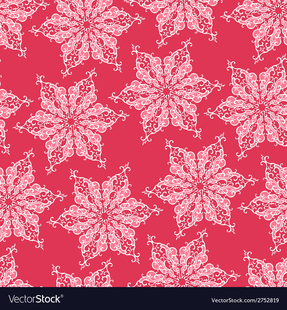 Seamless pattern with decorative snowflakes vector   Price: 1 Credit (USD $1)