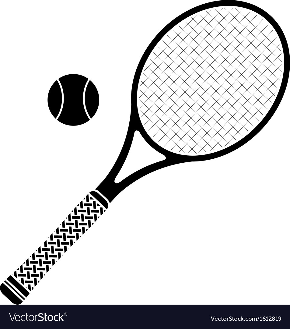 Tennis racket stencil vector | Price: 1 Credit (USD $1)