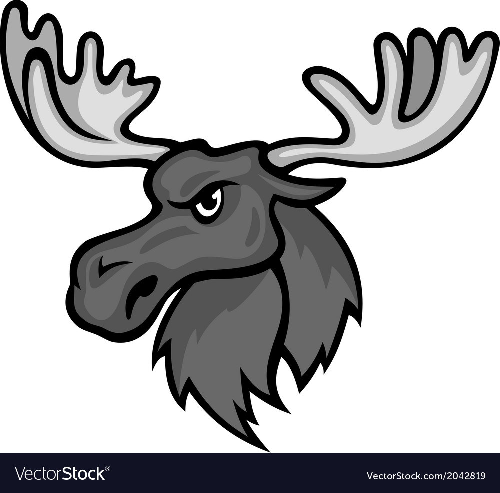 Wild moose vector | Price: 1 Credit (USD $1)
