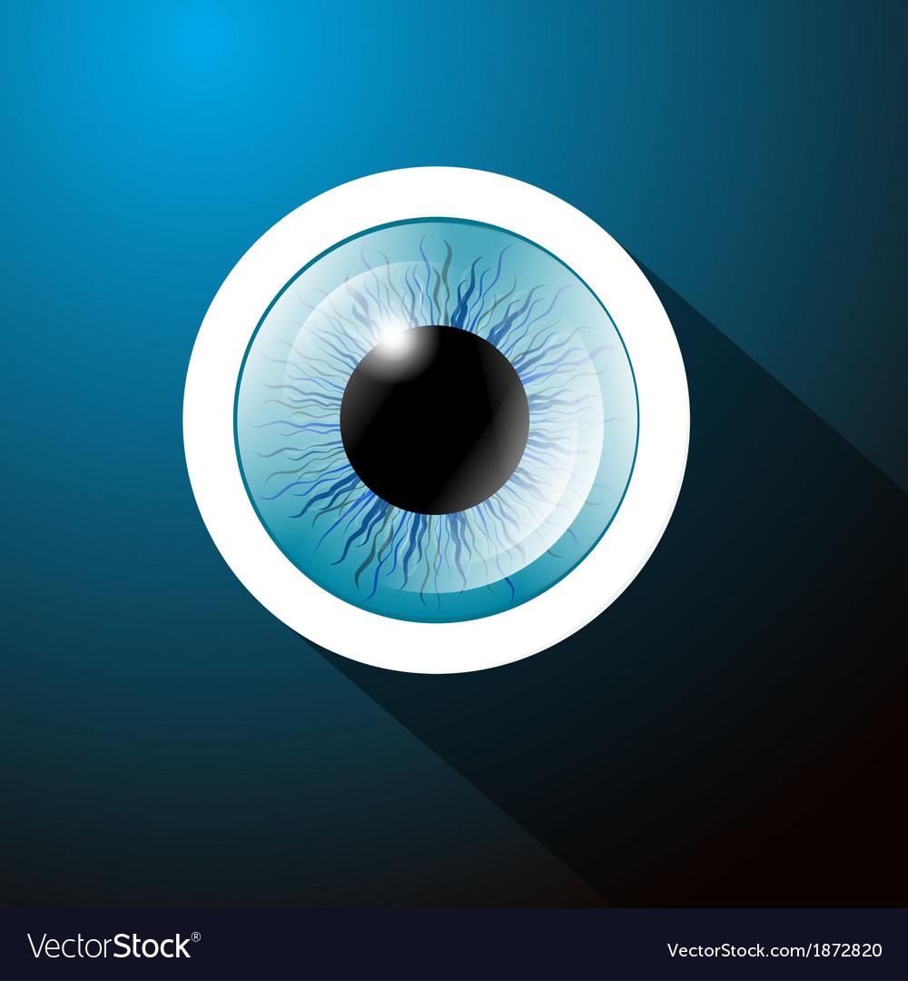 Abstract blue eye on dark blue background vector | Price: 1 Credit (USD $1)