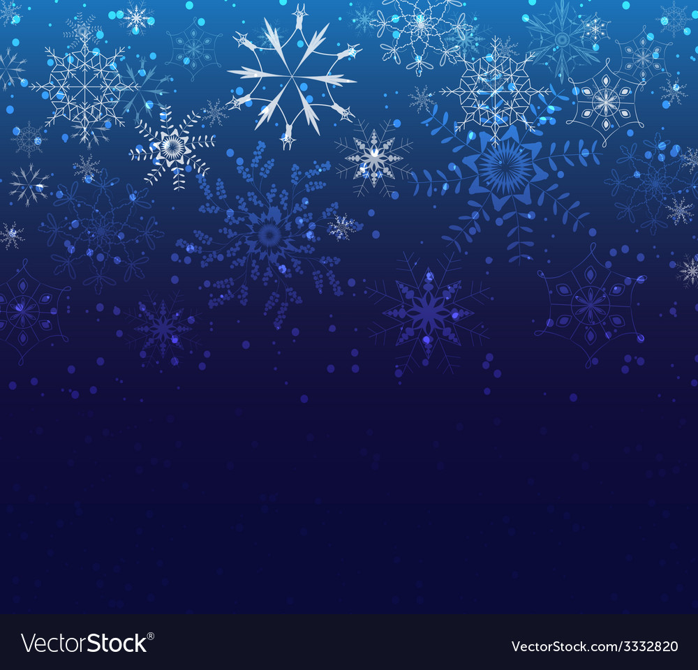 Christmas background greeting card with snowflakes vector | Price: 1 Credit (USD $1)