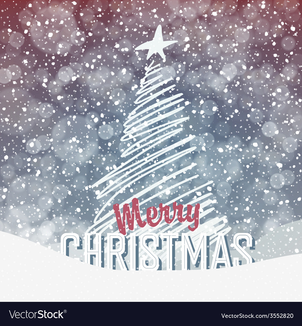 Christmas tree card design vector | Price: 1 Credit (USD $1)