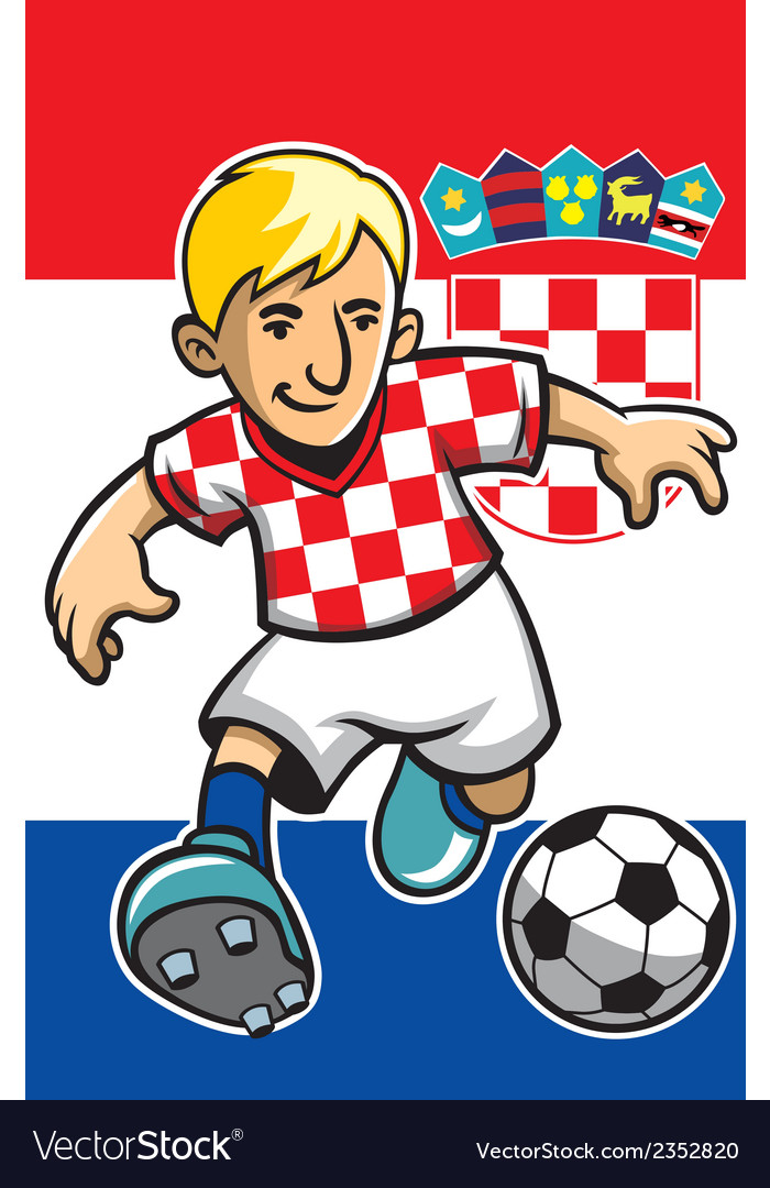 Croatia soccer player with flag background vector | Price: 1 Credit (USD $1)