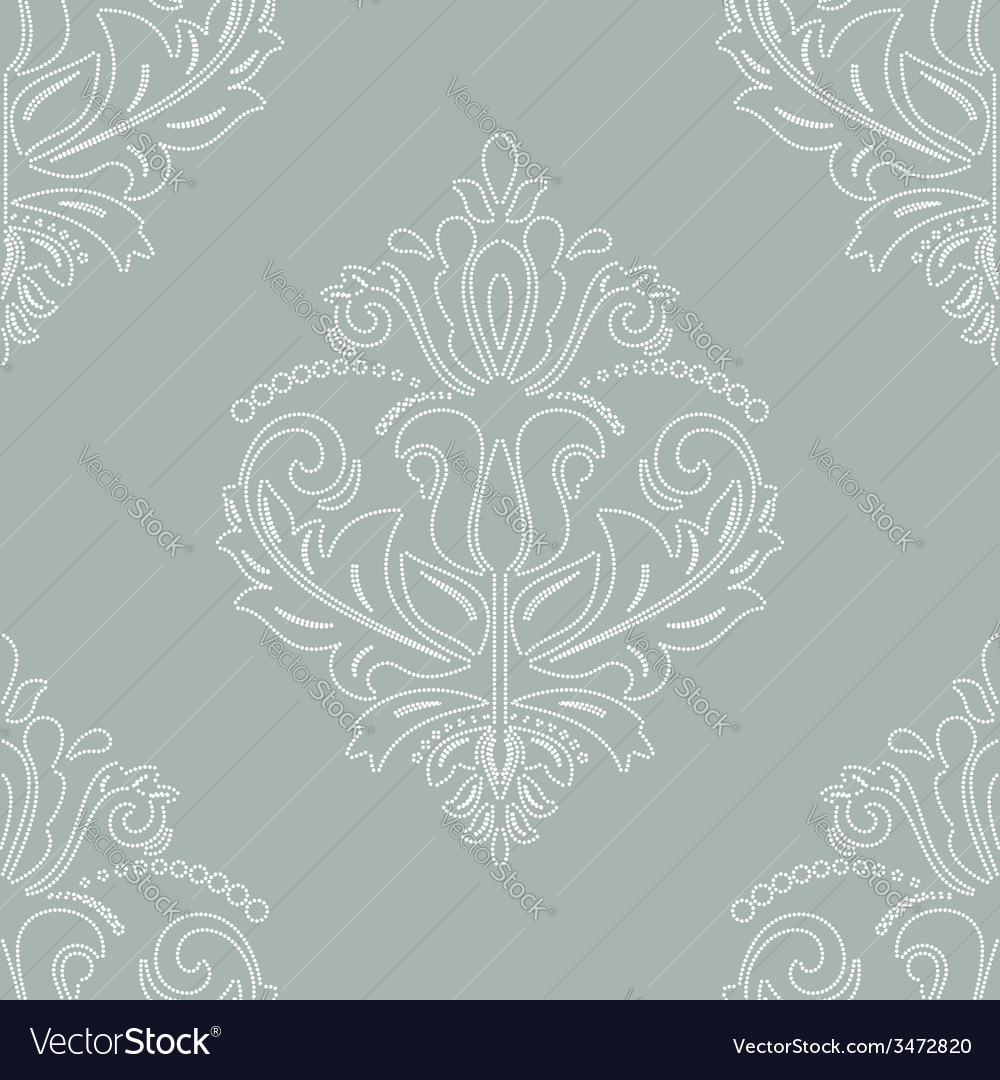 Damask seamless pattern orient background vector   Price: 1 Credit (USD $1)