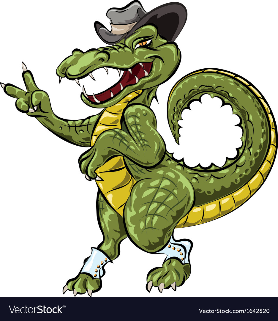 The dandy crocodile vector | Price: 3 Credit (USD $3)