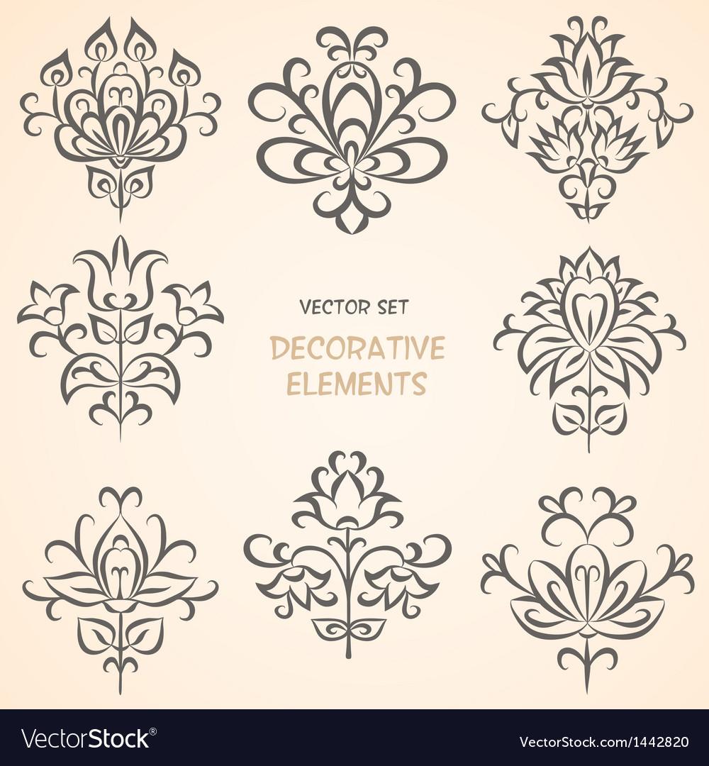 Decorative ethnic elements set vector | Price: 1 Credit (USD $1)