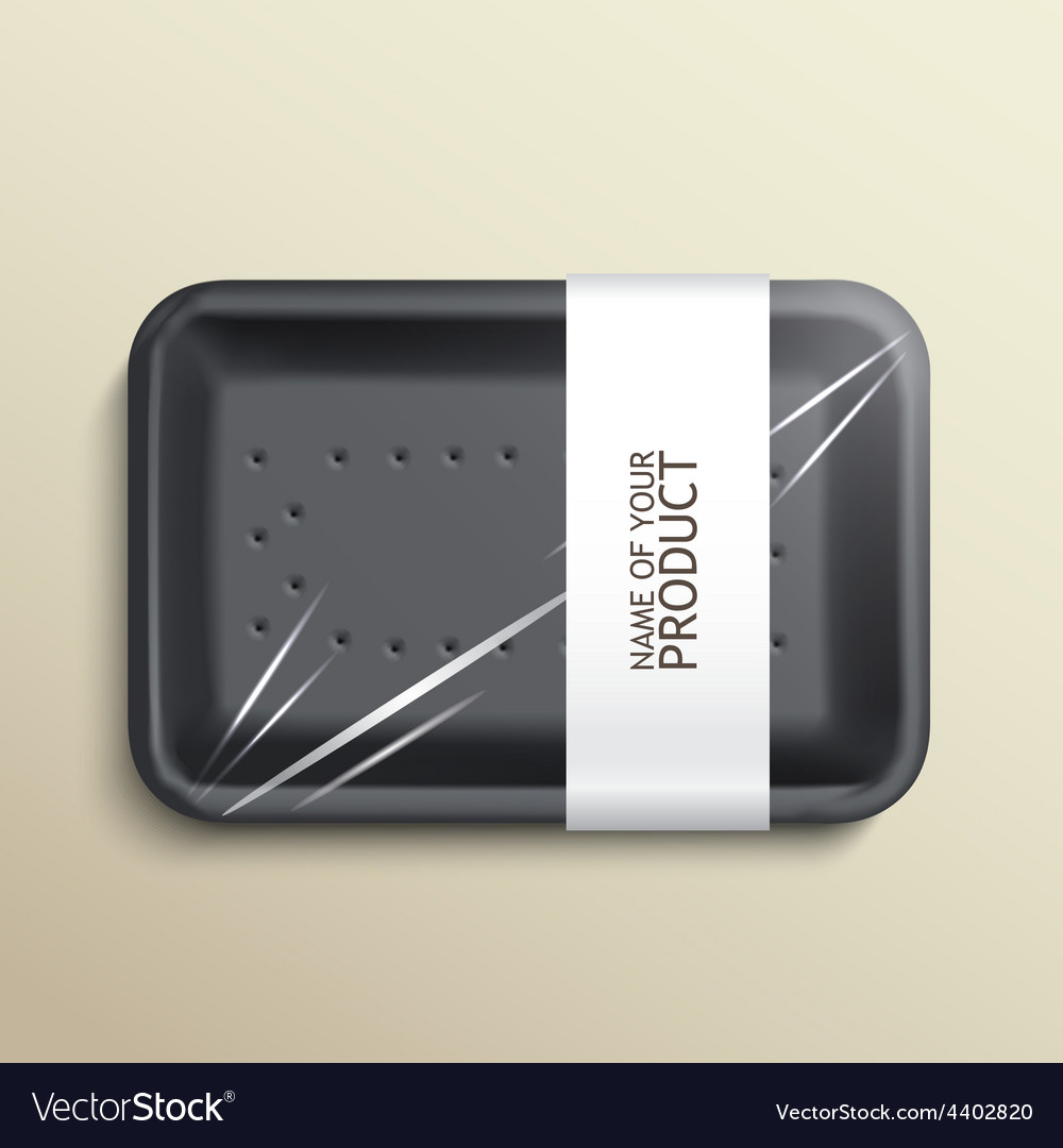 Empty wrapped food tray vector | Price: 3 Credit (USD $3)