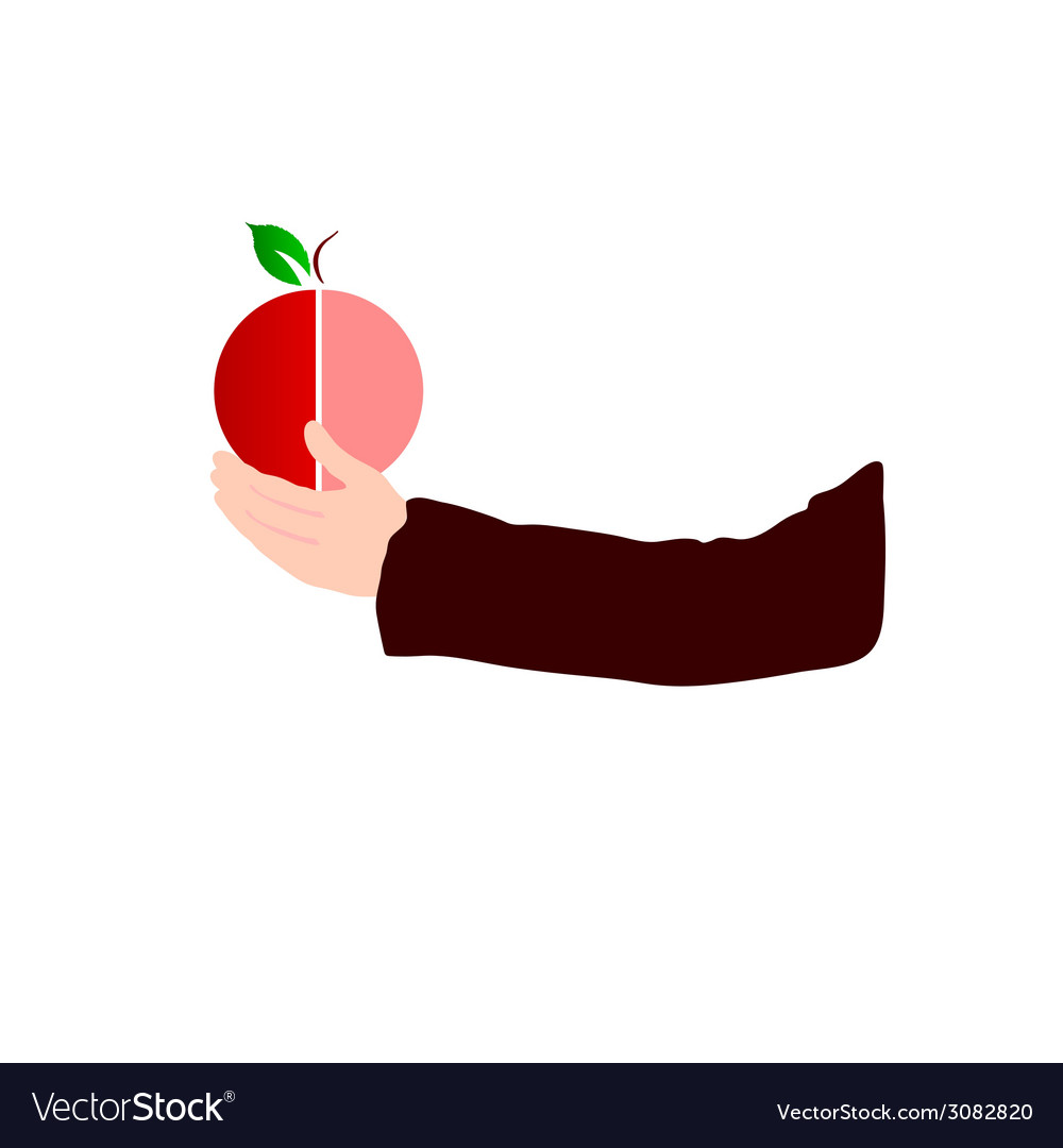 Fruit in hand color vector | Price: 1 Credit (USD $1)