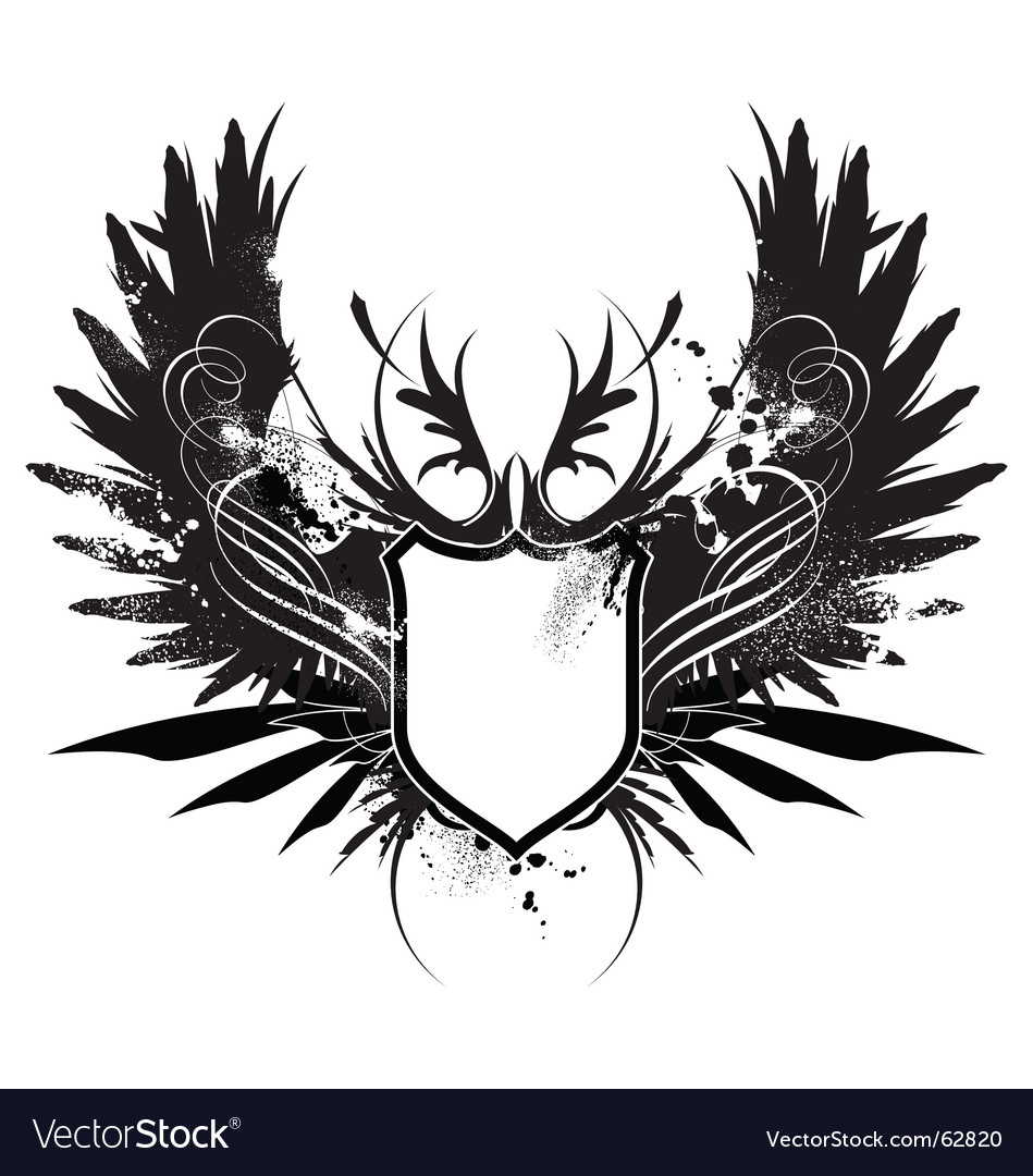 Heraldry shield with axe vector | Price: 1 Credit (USD $1)