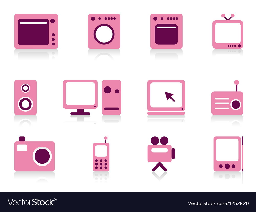 Home appliance objects set vector | Price: 1 Credit (USD $1)
