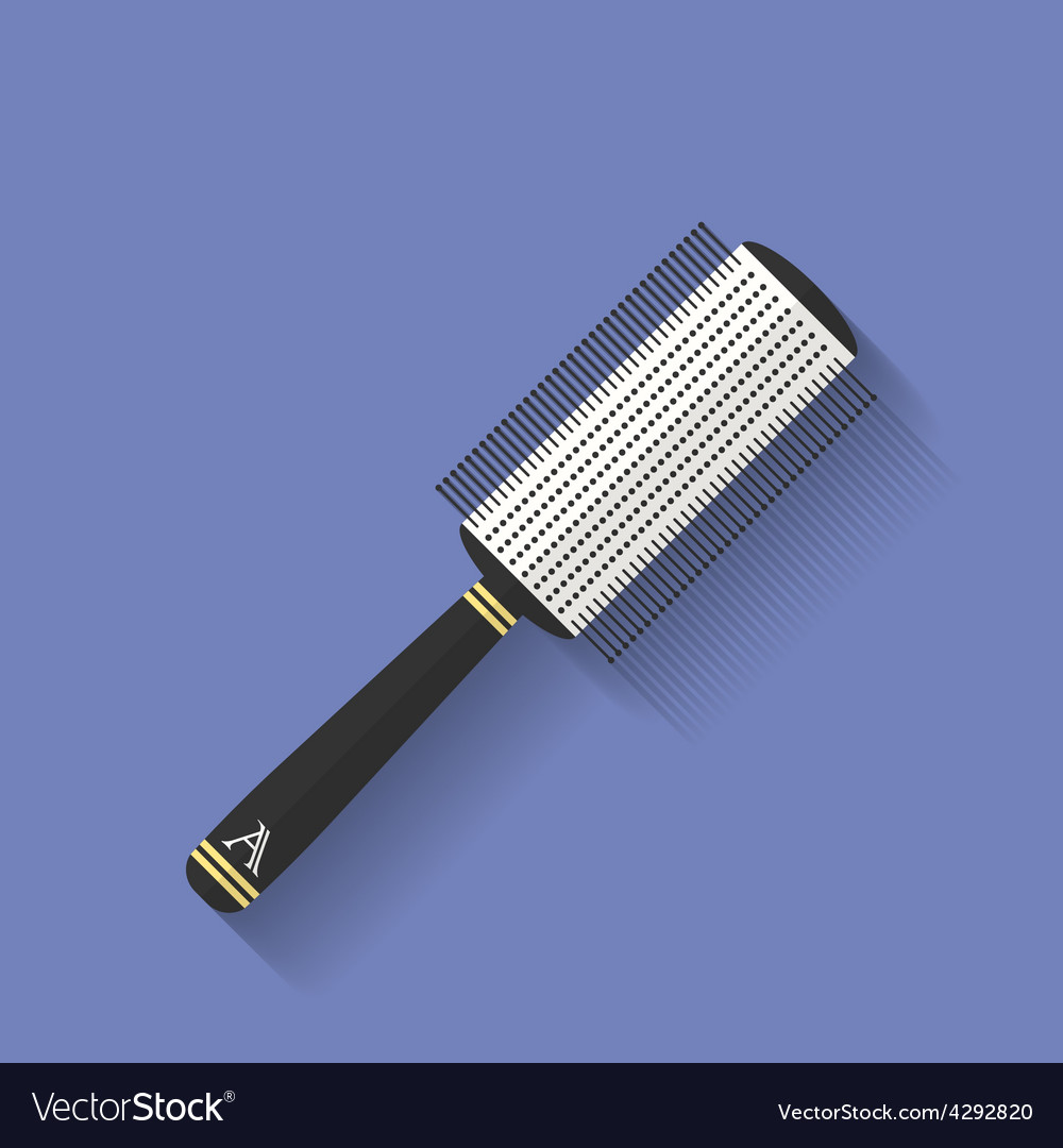 Icon of comb hairbrush flat style vector | Price: 1 Credit (USD $1)