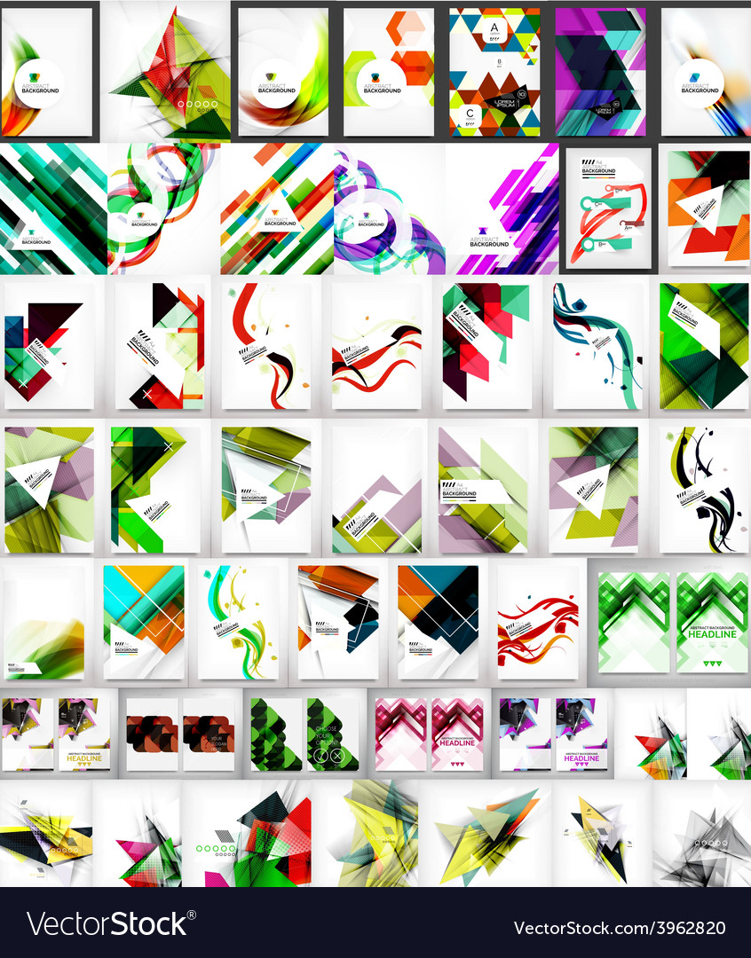 Mega collection of geometric shape abstract vector | Price: 1 Credit (USD $1)