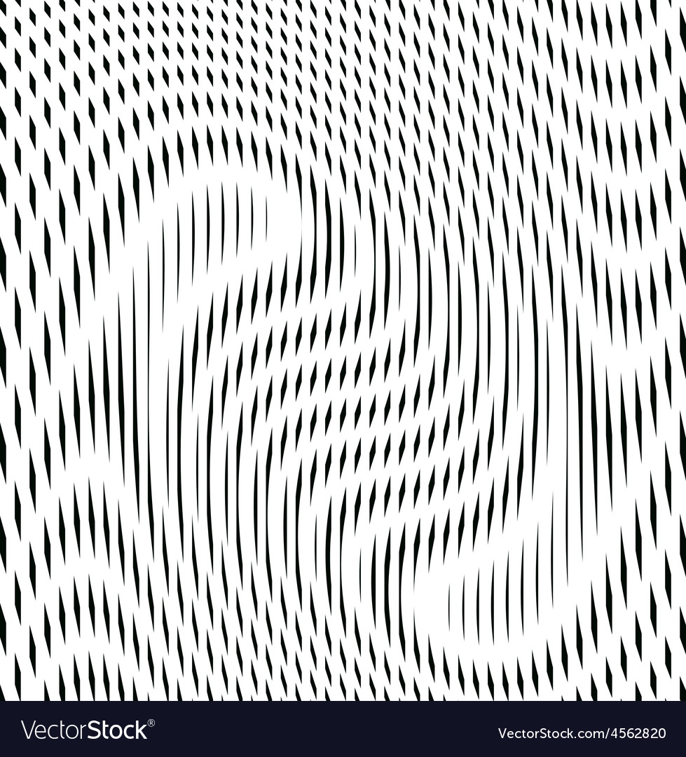 Op art moire pattern relaxing hypnotic background vector | Price: 1 Credit (USD $1)