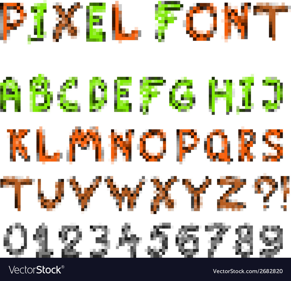 Pixel game font vector | Price: 1 Credit (USD $1)