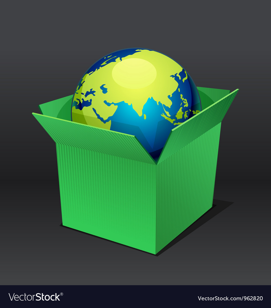 Planet in the box vector | Price: 1 Credit (USD $1)