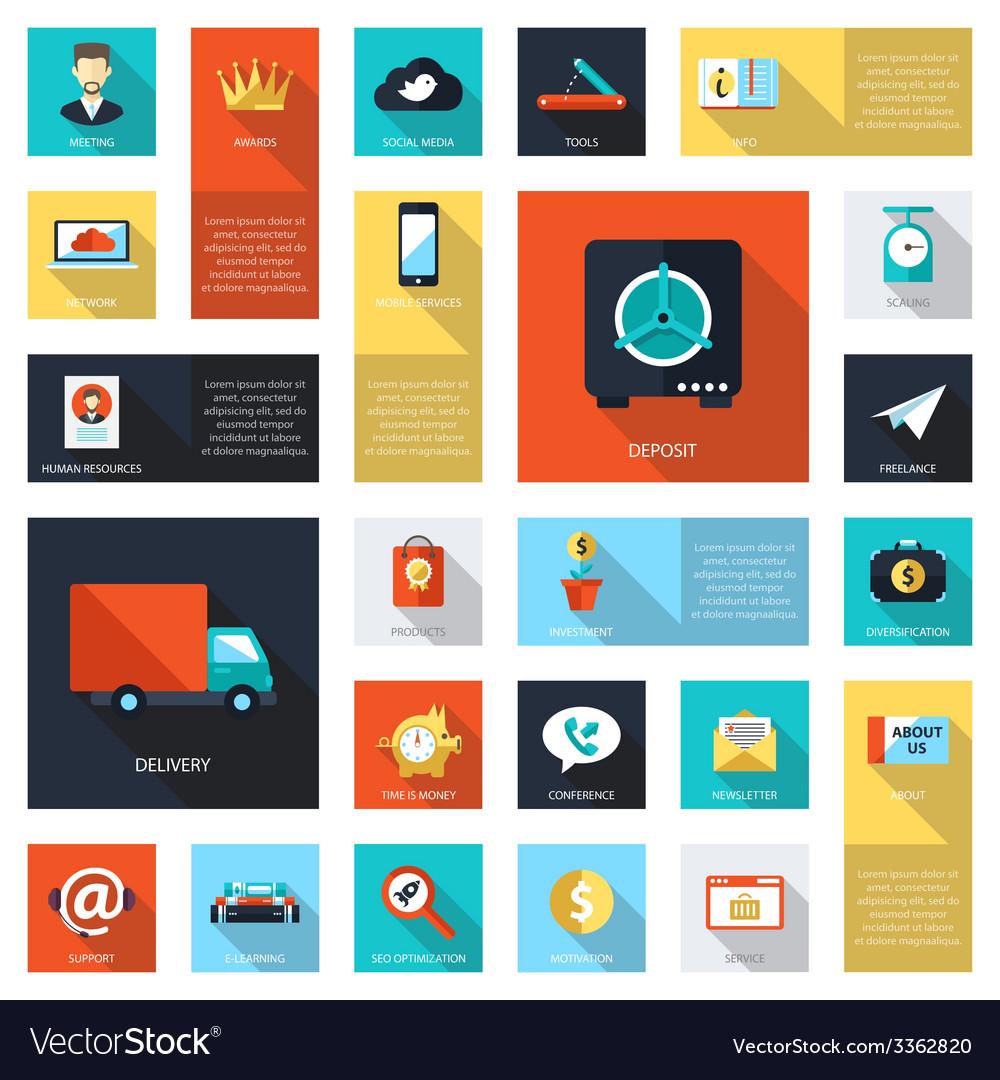 Set of modern flat design business infographics vector | Price: 1 Credit (USD $1)