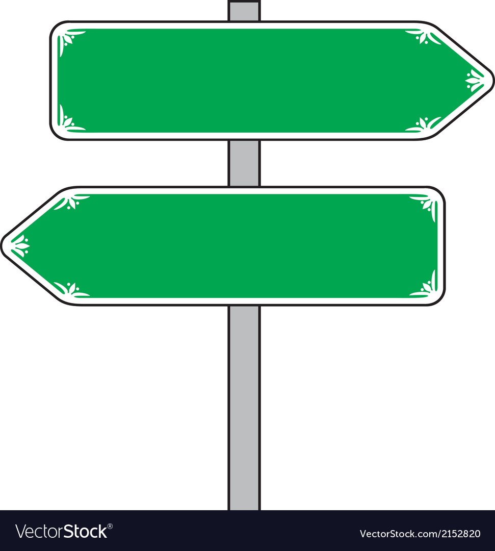 Sign direction vector | Price: 1 Credit (USD $1)