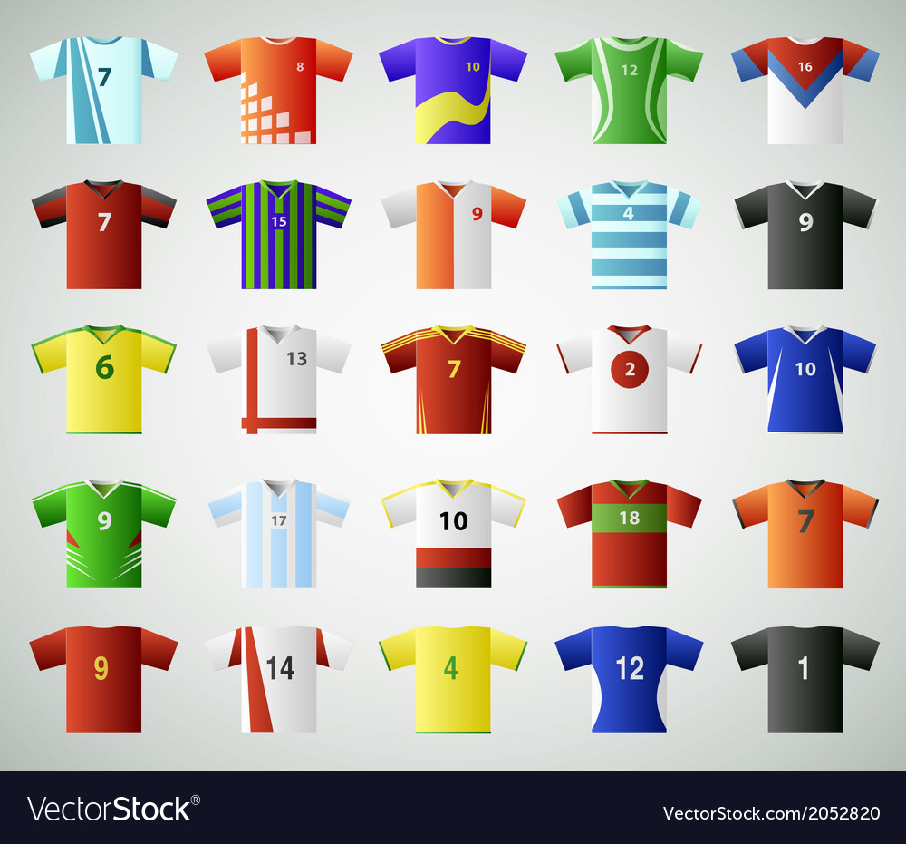 Soccer jersey t shirt set vector | Price: 1 Credit (USD $1)